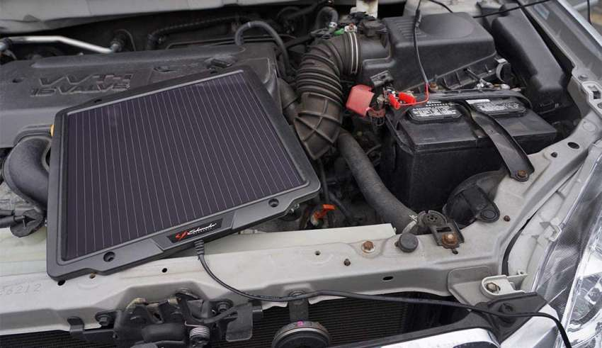 Solar Power Car Battery Charger