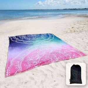 Sunlit Silky Sand Free Beach Blanket