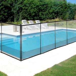 Happybuy Pool Safety Fence, Black
